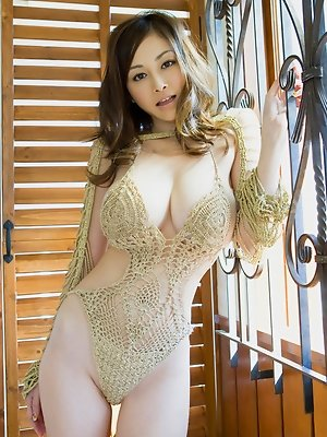 Anri Sugihara Asian has huge assets in belt and in hot lingerie